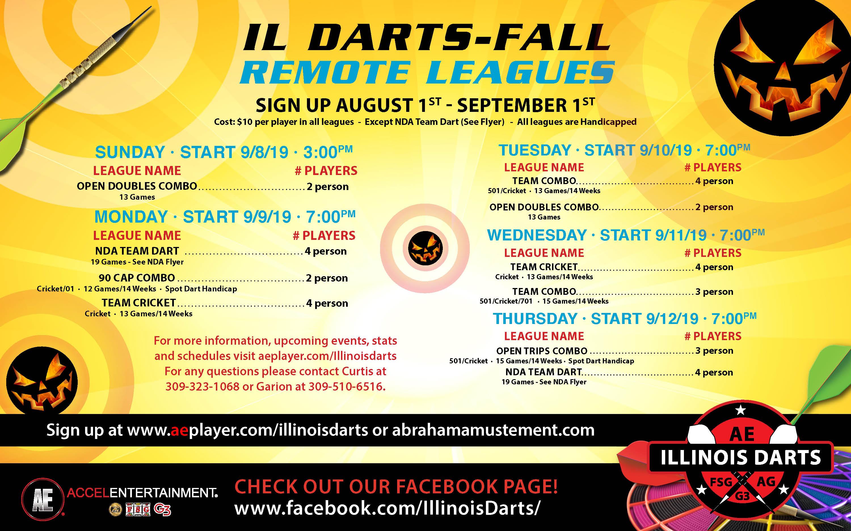 Dart 2019 Fall Leagues - Remote - Remote -Dart Board
