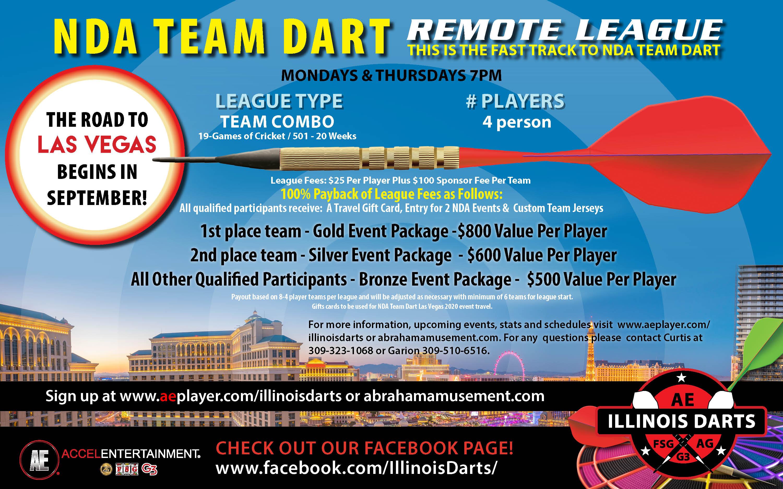 Dart 2019 Fall Leagues-NDA Team Dart - Remote -Dart Board