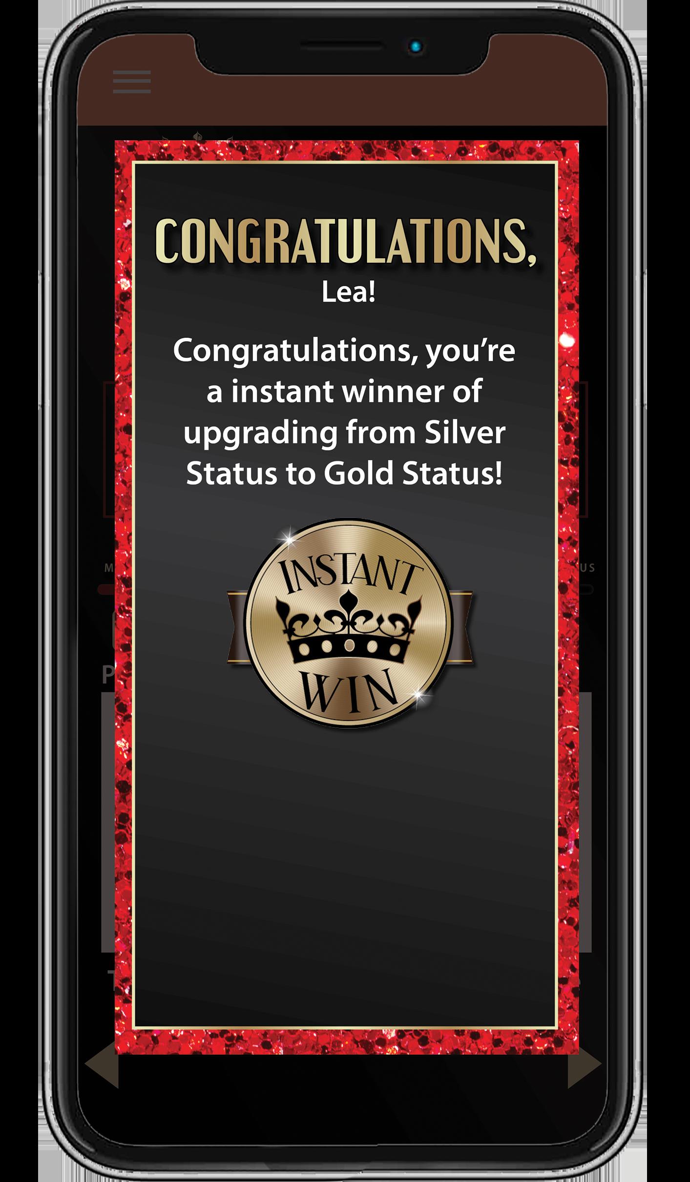 AEPlayer Rewards App Screens
