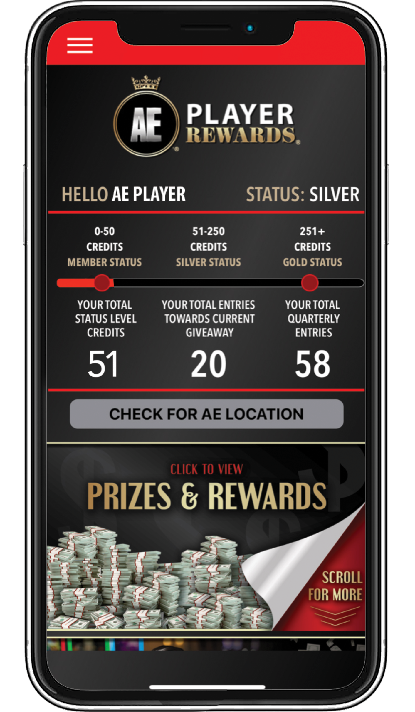 AEPlayer-Rewards-App-Home-Screen