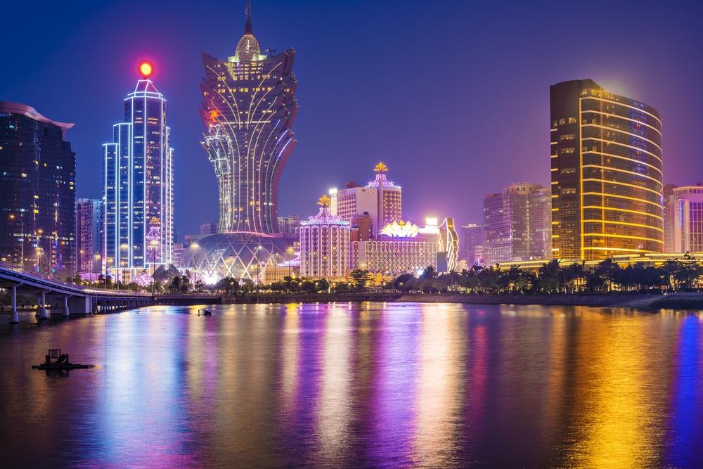 Macau, China skyline